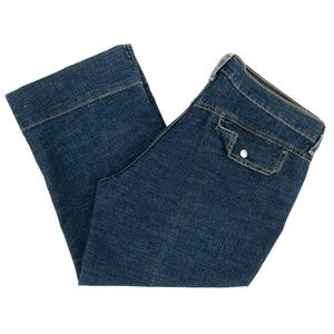 Levi's Strauss Jeans Outback Capri Mid Rise Crop